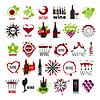 Векторный клипарт: Самая большая коллекция логотипов вина