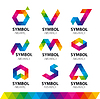 Collection of logos of abstract modules | Stock Vector Graphics