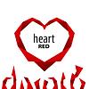 Векторный клипарт: Логотип сердце красной лентой
