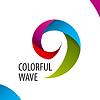 Векторный клипарт: Логотип красочные волны полос