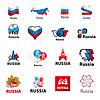 Set von Logos Russland