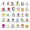 große Reihe von Logos-Kleidung