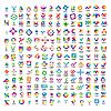 sehr große Reihe von abstrakten Logos
