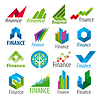Große Reihe von Logos Finanzen | Stock Vektrografik