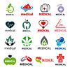 Größte Sammlung von Logos medizinische | Stock Vektrografik