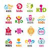 große Sammlung von Logos Kinder