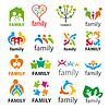 große Sammlung von Logos Familie