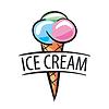 Logo kulki lodów | Stock Vector Graphics