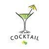 cocktail mit sonnenschirm zahnstocher dekoriert vektorisiertes design. Black Bedroom Furniture Sets. Home Design Ideas