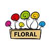 logo Bunte Blumen im Topf