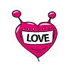 logo Roboterkopf in Form von Herzen