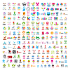 Größte Sammlung von Logos Menschen | Stock Vektrografik