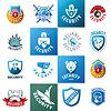 große Reihe von Logos Schutz