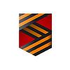 logo Bändern in Form von Schild