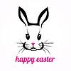 Frohe Ostern Kaninchen | Stock Vektrografik