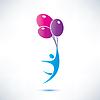 Mann mit Ballon, Symbol
