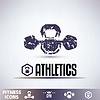 Fitness-Studio-Symbole, Embleme Fitness-Grunge-Sammlung