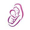Matka i jej dziecko sylwetkę, symbolem | Stock Vector Graphics