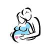 Junge Familie warten auf die Geburt Symbol | Stock Vektrografik