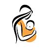 Mutter hält ihr Baby im Tragetuch | Stock Vektrografik