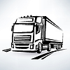 그림 Europian 트럭 설명 기호 | Stock Vector Graphics