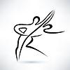 Tanzpaar, skizziert Skizze