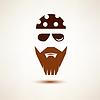 Biker o símbolo de balancín, icono estilizada | Ilustración vectorial