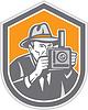 Fotograf Weinlese-Kamera-Schild Retro