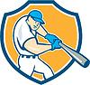 Amerikanischen Baseballspieler Schild Cartoon