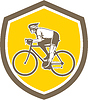 Radfahrer Riding Mountain-Schild Retro