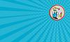 Wizytówka Hydraulik Gospodarstwa Klucz Tłok Cartoon | Stock Illustration