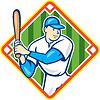 Amerikanischen Baseballspieler Diamant-Cartoon