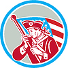 American Patriot Soldat Flagge Kreis