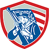 American Patriot Soldat Flagge Schild