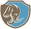 Wütend Elephant Head Seitenschutz Retro