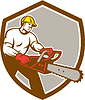 Lumberjack Baumdoktor Baumpfleger Kettensäge Schild