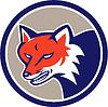 Red Fox Leiter Verärgerte Kreis Retro
