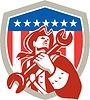 Mechanic American Patriot Holdingschlüssel Schild