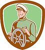 Fisherman Sea Captain Rad Schild Retro