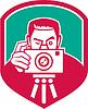 Fotograf Shooting Kamera Schild Retro