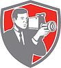 Videokameraaufnahme Jahrgang Schild Retro