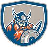 Viking Raider Barbar Krieger Schild Retro