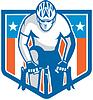 Amerikanische Radfahrer-Reit Fahrrad Radfahren Schild Retro
