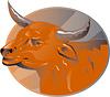 Wütend Bull Leiter Retro