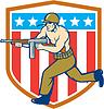 Weltkrieg Soldat amerikanischen Tommy Gun Schild