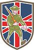 Weltkrieg Soldat britischen Marsch Cartoon
