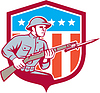 Weltkrieg Soldat American Retro Schild