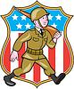 Weltkrieg Soldat amerikanischen Cartoon Schild
