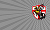 Photo 300 DPI: Business card English Knight Lance England Flag
