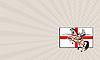 ID 4735553 | Business card English Knight Lance Horse England | Stockowa ilustracja wysokiej rozdzielczości | KLIPARTO